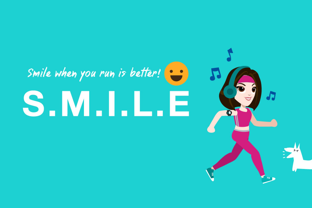 Why you should smile when you run