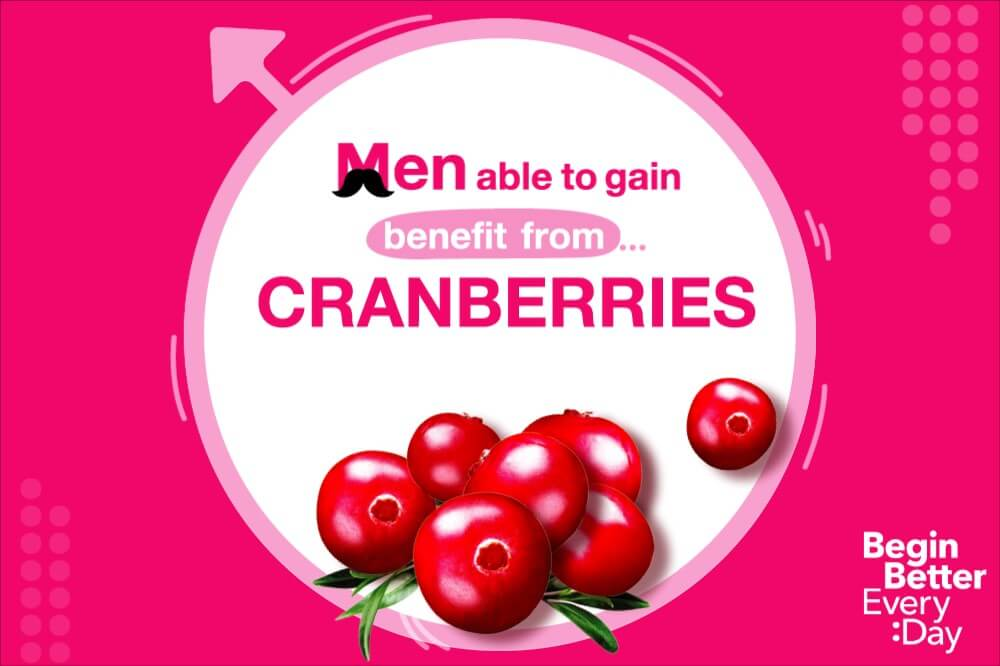 How men can benefit from cranberries